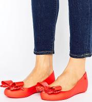 minnie mouse bow ballerina pumps