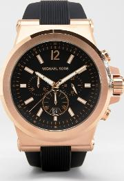 Mk8184 Oversized Dylan Silicone Chronograph Watch