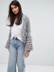 m.i.h jeans shaggy knit cardigan