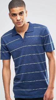 knitted polo with open neck