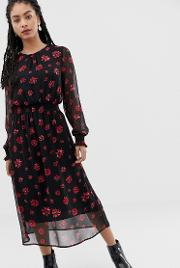 Moves By Floral Midi Dress