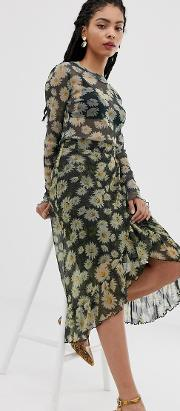 Moves By Floral Midi Skirt