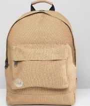 mi pac canvas backpack in sand