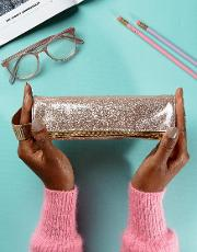 mi pac champagne glitter pencil case