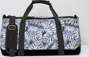 mi pac duffel bag with tropical leaf print
