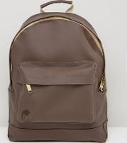 mi pac rubber backpack in brown