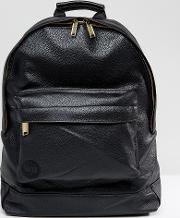 mi pac tumbled backpack in faux leather black
