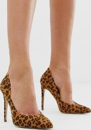 Leopard Pointed Court Shoes
