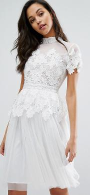 lace and tulle layer dress