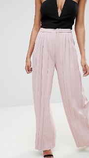 Exclusive Pleated Wide Leg Trousers