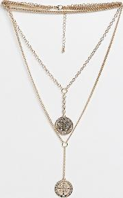 Multi Layered Coin Pendant Necklace