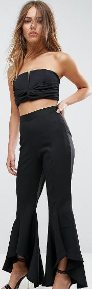 extreme flare trousers