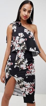 printed one shoulder dress