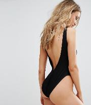 Ribbed Low Back Swimsuit