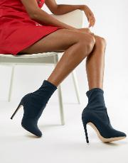 Round Toe Stiletto Boots