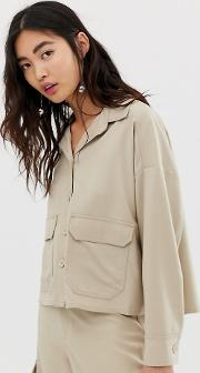 Cropped Utility Blouse