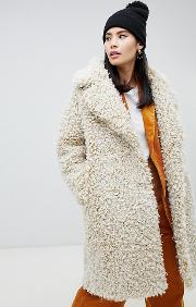 Double Breasted Teddy Coat