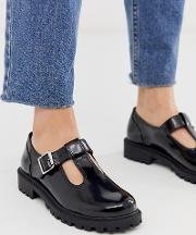 Faux Leather Shoes With Buckle Detail