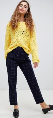 Peg Tailored Check Trousers