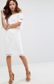lace up edge  skirt