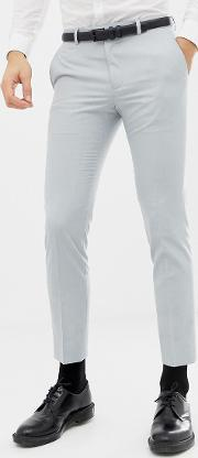 Moss London Skinny Wedding Suit Trousers Ice