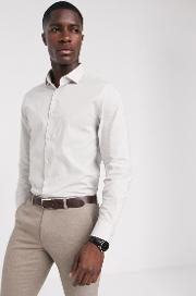 Moss London Slim Fit Shirt With Stretch