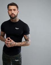 muscle t shirt in black