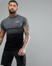 muscle t shirt in grey fade