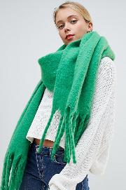 green super soft extra long scarf