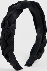 London Exclusive Satin Woven Wide Headband