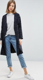 All Over Check Lightweight Trench