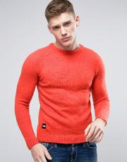 brushed knitted jumper