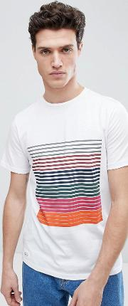 placement stripe graphic  shirt