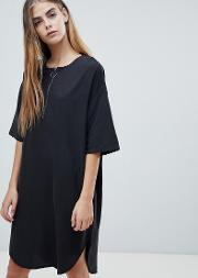 Shift Dress With Half Zip