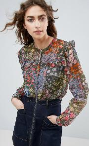 needle and thread flowerbed blouse