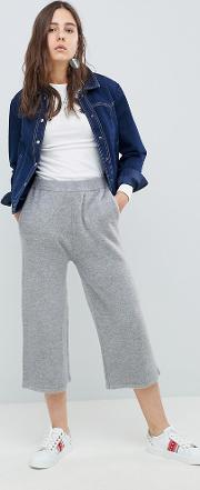 knitted wide leg trousers