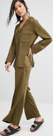 wide leg trousers co ord