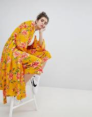 wide leg trousers in vintage bloom co ord