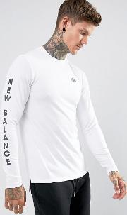 247 Long Sleeve T Shirt With Arm Print  White Mt73504 Wt