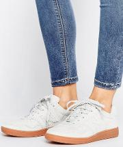 288 court trainers  white suede