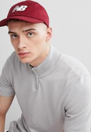 embroidered logo baseball cap in burgundy 500173 641