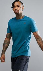 Running Tech Heather  Shirt  Blue Mt73080mru