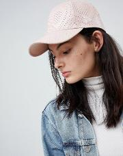 9forty pink perforated pu cap