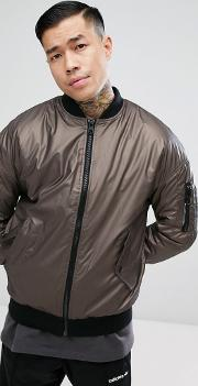 Bomber With Ma1 Pocket In Bronze