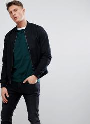cotton bomber in black