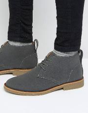 desert boot in grey