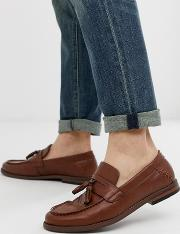 Faux Leather Tassel Loafers