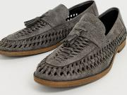 Faux Leather Woven Tassel Loafer