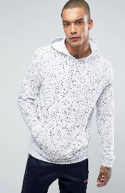 hoodie with spray wash in white