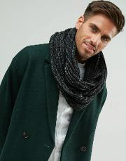 Knitted Snood In Black